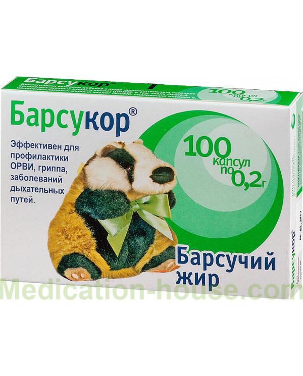 Barsucor Badger fat caps 200mg #100