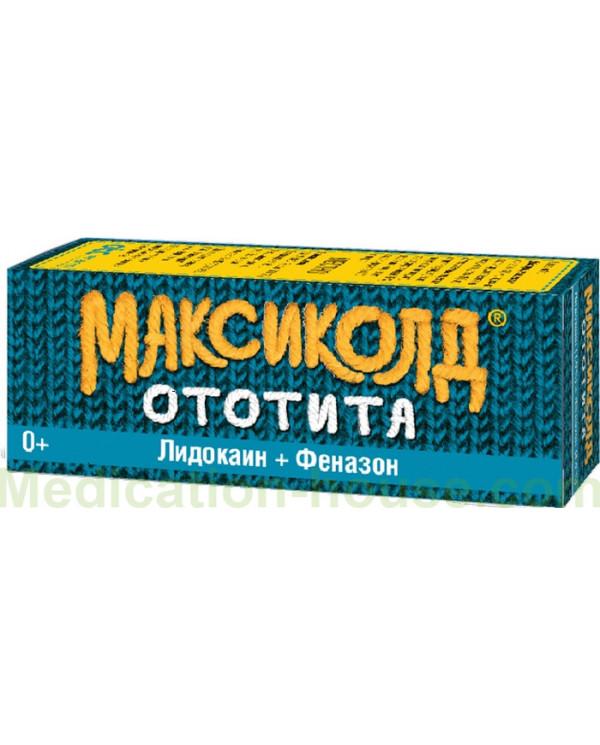 Maxicold Ototita 1% + 4% 15ml