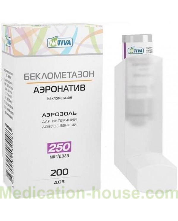 Beclomethasone Aeronative 250mcg/dose 200doses
