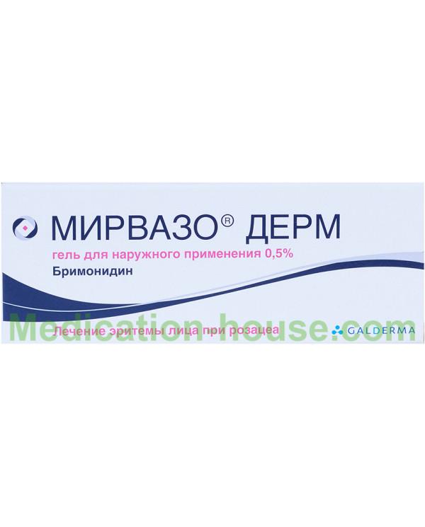 Mirvaso Derm gel 0.5% 30gr
