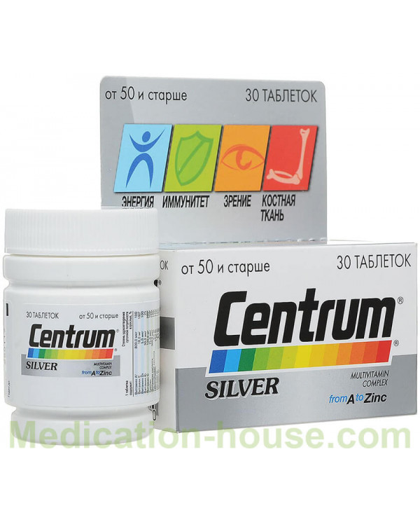 Centrum Silver Multivitamin complex from A to Zinc tabs #30