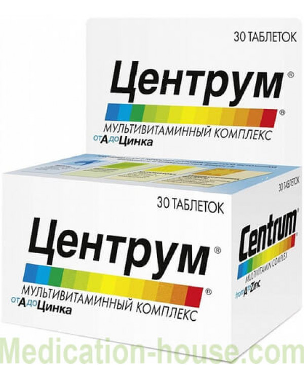 Centrum multivitamin complex from A to Zinc tabs #30