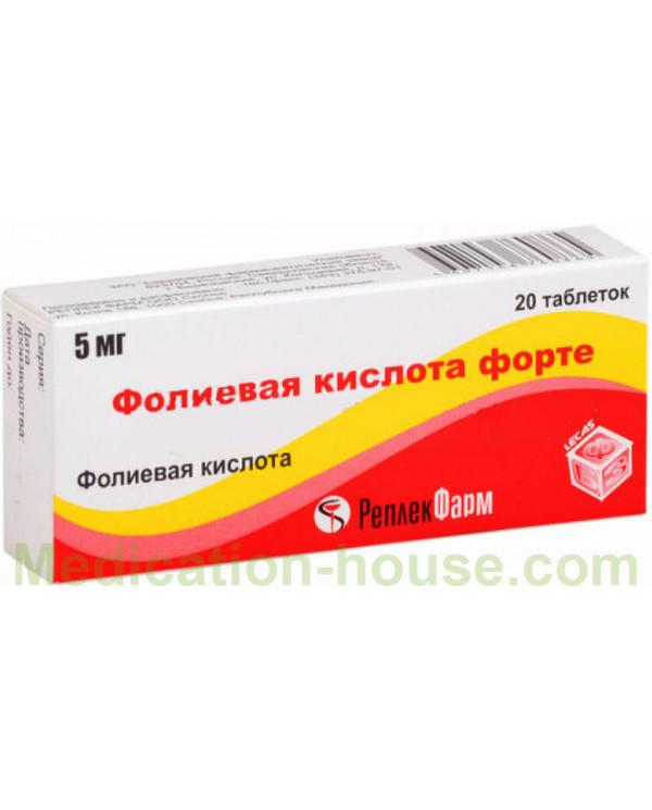 Folic acid forte tabs 5mg #20